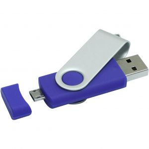 Rotate pendrive on-the-go, kék, 16GB (raktári) (1Z20120KC)